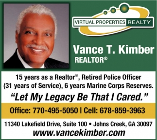 Vance T Kimber Virtual Properties Realty Jonesboro Ga