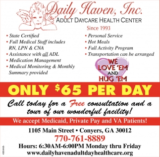 Only $65 per day