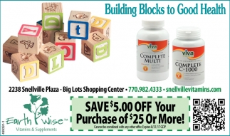 Building Blocks to Good Health