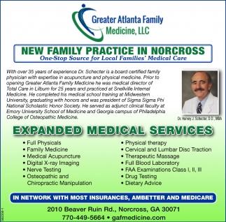 New Family Practice In Norcross