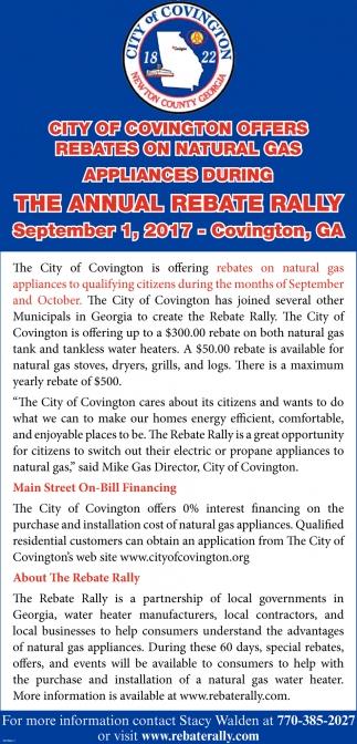 The Annual Rebate Rally