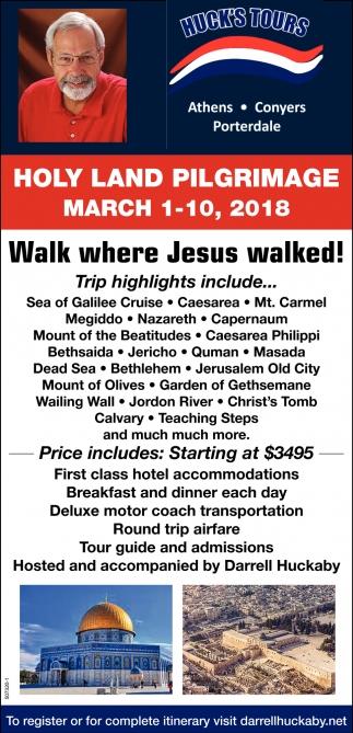 Walk where Jesus Walked