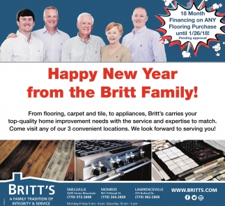 Happy New Year from the Britt Family!