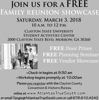 Join Us for a Free Family Reunion Showcase