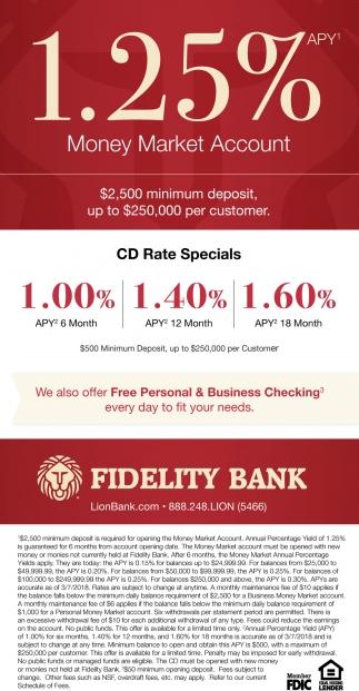 CD Rate Specials