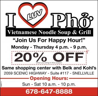 Vietnamese Noodle Soup & Grill