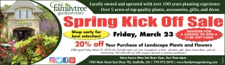 Spring Kick Off Sale