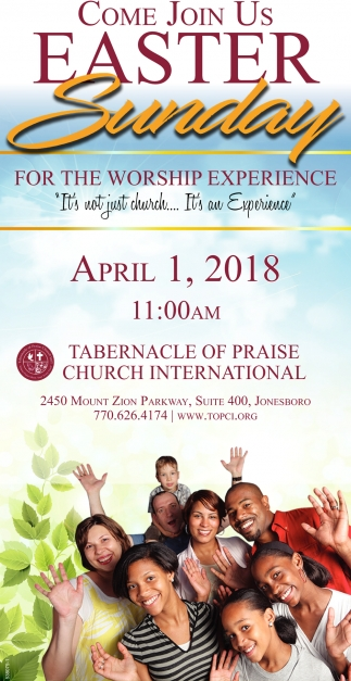 Come join us easter