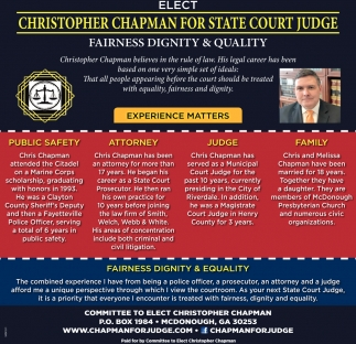 Christopher Chapman for State Court Judge