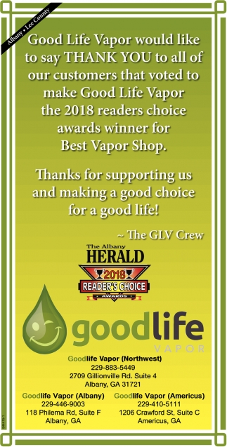 Thanks for Supporting us and Making a Good Choice for a Good Life!