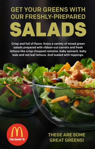 Get your Green with Our Freshly-Prepared Salads