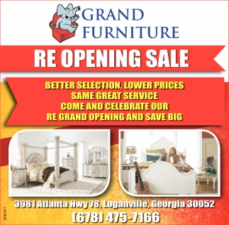Grand Re Opening Sale