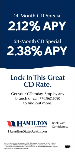 Lock in this Great CD Rate