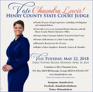 Vote Chaundra Lewis