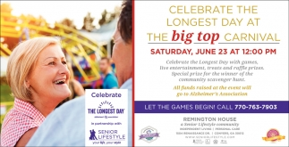 Celebrate the Longest Day at the Big Top Carnival