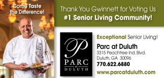 Thank You Gwinett for Voting Us #1 Senior Living Community!