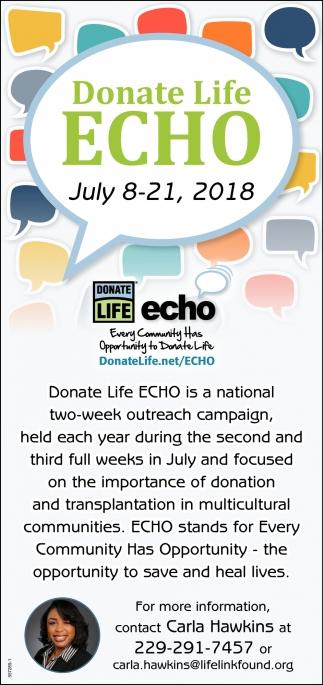 Donate Life ECHO