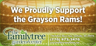 We Proudly Support the Grayson Rams!