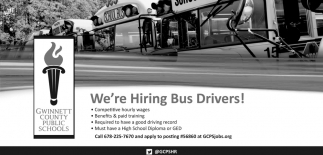 We're Hiring Bus Drivers!