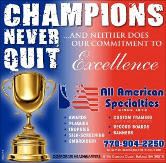 Champions Never Quit