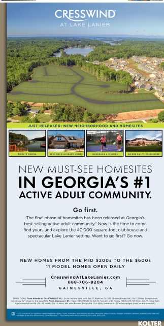New Must-see Homesites in Georgia's #1