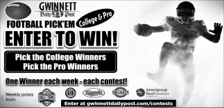 Football Pick'em Enter to Win!