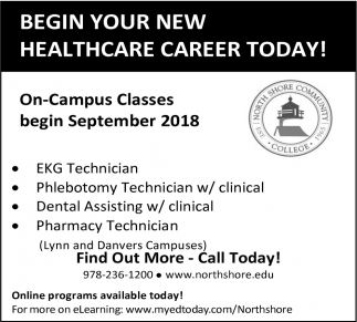 Begin Your New Healthcare Career Today!