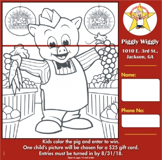 Kids Color the Pig and Enter to Win
