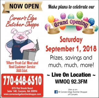 Make Plans to Celebrate or Grand Opening