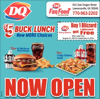 Now Open Dq Dairy Queen Fan Food Lawrenceville Ga