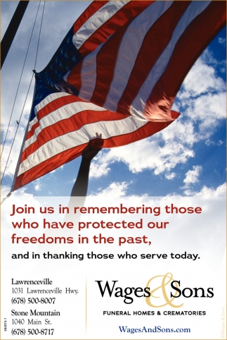 Join us in remembering those who have protected our freedoms in the past