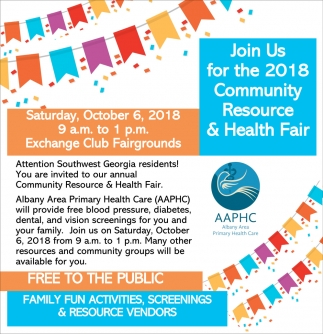 Join Us for the 2018 Community Resource & Health Fair