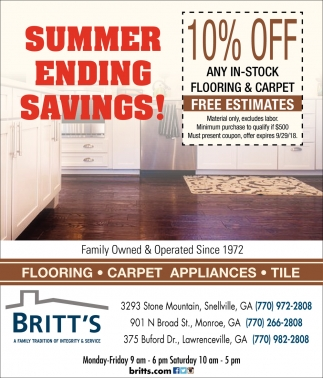 Summer Ending Savings!