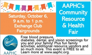 AAPHC's Community Resource & Health Fair