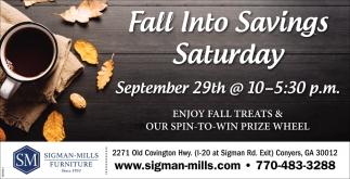 Fall Into Savings Saturday