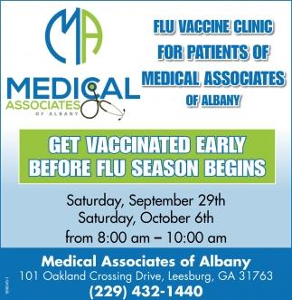 Get Vaccinated Early Before Flu Season Begins
