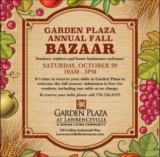 Annual Fall Bazaar