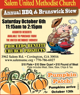 Annual BBQ & Brunswick Stew
