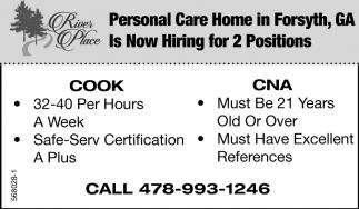 Cook/CNA, River Place, Forsyth, GA