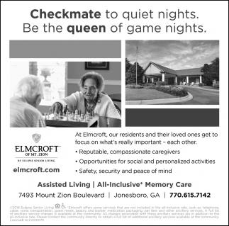 Checkmate to Quiet Nights, Elmcroft Senior Living, Jonesboro, GA