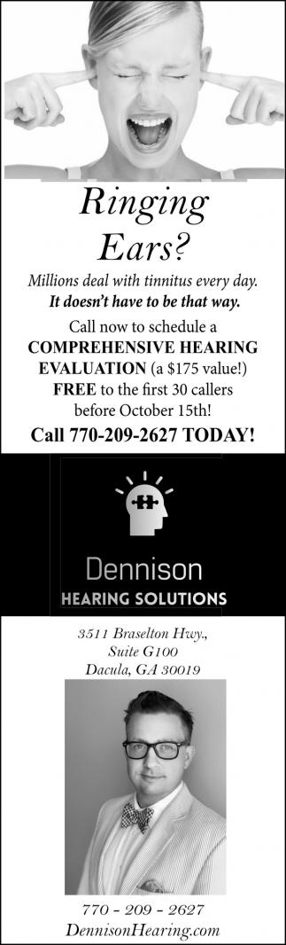 Ringing Ears?