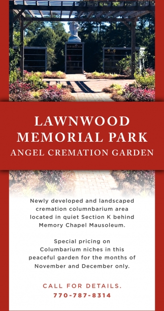 Newly Developed and Landscaped Cremation Columnbarium Area