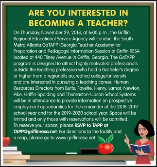 Are you Interested in Becoming a Teacher?