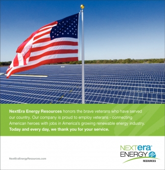 NextEra Energy Resources Honors the Brave Veterans