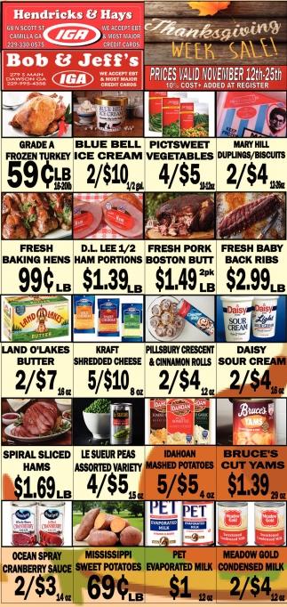 Thanksgiving Week Sale!