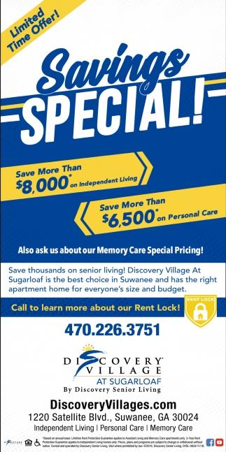 Savings Special!