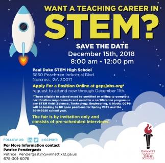 Want a Teaching Career in Stem?