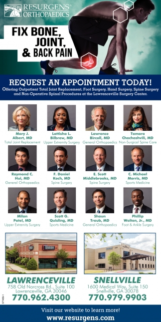 Request an Appointment Today!