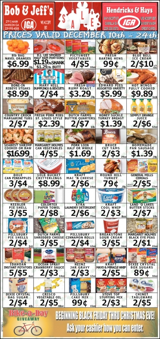 Prices Valid December 10th - 24th