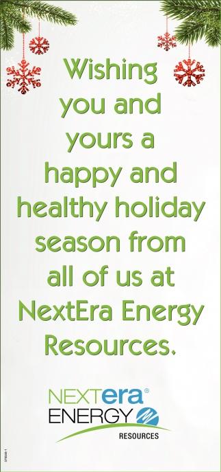 Happy and Healthy Holiday Season